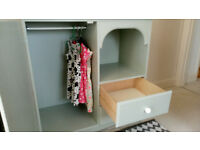 baby changing unit with wardrobe and drawers
