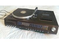 TURNTABLE + Amplifier + AUX (iPhone/ iPad/ Laptop/ Console... ) Cassette Radio FM Tuner CHEAP!!!