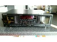 Sony TC WR870 double twin cassette recorded player