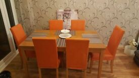 6 orange chair covers
