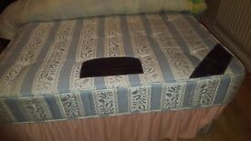 DOUBLE DIVAN BED, MATRESS AND HEADBOARD MUST GO BEFORE WEDNESDAY 14TH DECEMBER