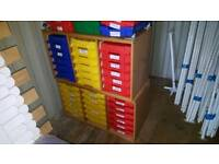 Tray Storage Unit With Trays