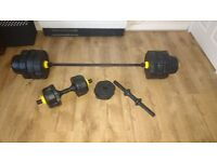 """Standard Sized 5"""" Barbell and Dumbell set"""