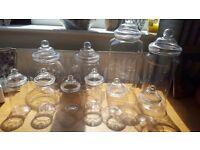 10 Plastic Sweet Jars For Sale Brand New never used - Hengoed