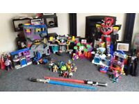 Batman, Power Rangers & Spiderman playsets with accessories