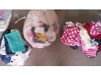Various babys clothes. In picture with tops and jackets 2 of everything due to having twins