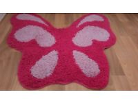 Gorgeous pink butterfly rug