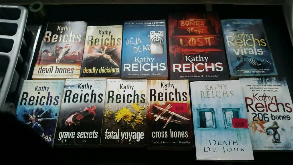 Mixture of books Kathy Reichs, Qi and Observer. Happy to break the lot