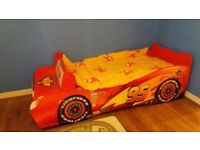 Toddler disney lighting macqueen car bed & mattress
