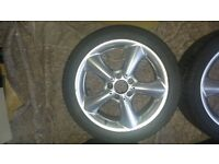 Mercedes 2006 W203 C Class Used Alloys and Snow Tyres (Leeds) will fit staggered setup