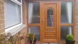 Oak pvc door and side panels