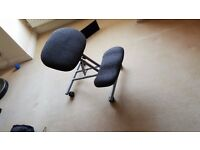 Kneeling Orthopaedic Ergonomic Posture Back Office Chair Stool Charcoal Grey