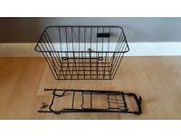 Bicycle / Black Metal Bike Rear Pannier | Luggage Carrier | Front Metal Basket | Bike Project