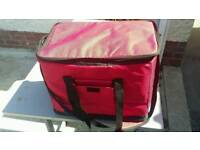 Red Insulated Hot Food Delivery Bag