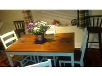 Farmhouse Kitchen Table x 4 chairs