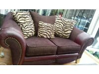 LARGE 2 SEATER AND CHAIR ,