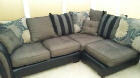 Corner sofa and matching footstool
