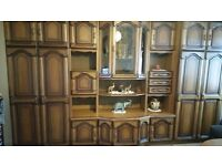 Antique Style Wooden Wall Unit