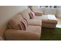 large cream fabric sofa