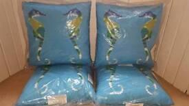 BRAND NEW Seahorse Garden Cushions