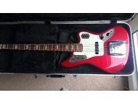 Fender Jaguar Deluxe Bass MIJ plus case and strap