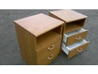 Pair of two drawer bedside cabinets