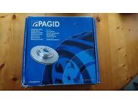 Pagid 50286 Front 259mm Vented Brake Disc - Renault Clio, Kangoo Megane & Twingo