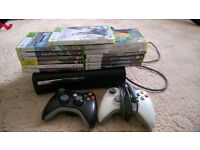 xbox 360 with games.
