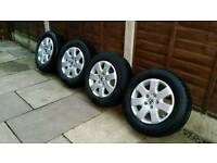 VW T5 ALLOY WHEELS , 215,65,16,,,GOOD CONDITION, ,GOOD TYRES, ,READY TO FIT, ,,