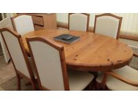 Dinning table extendable with 66 chairs