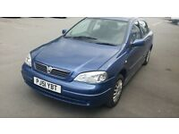 Vauxhall/Opel Astra 1.6i 16v auto 2001 ,Club,Blue.low miles 12 mounth mot