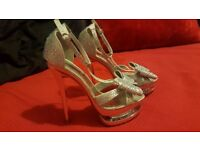 NEW Fabulous Strappy Silver High Heel
