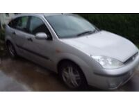 Ford focus diesel . 5 door silver .spares or repair. No mot . Or tax