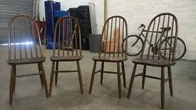 Four wooden chairs, good condition collection BH21 4DB