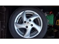 PEUGEOT 206 ALLOYS. FRONT TYRES AS NEW.