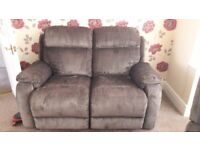 Electric recliner armchair & 2 seater settee