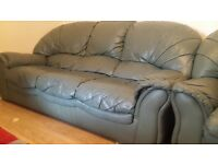 real leather sofa set
