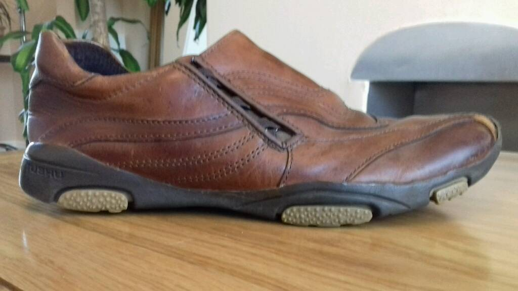 Mens Brown Leather Rushu Trainers Size 8