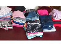 70 items of girls clothing. Age 7 & 8. From brand named shops, Debenhams, M&S, Next, H&M