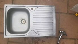 Stainless Steel Sink with Mixer tap & Waste