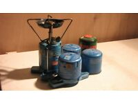 Camping Gas Stove with 3 spare cartridges
