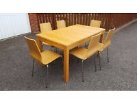 Ikea Bjursta Extending Dining Table 150cm-220cm & 6 Vilmar Chairs FREE DELIVERY (03453)