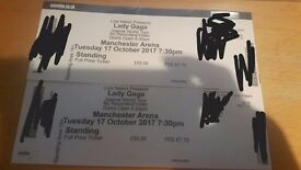 2 x Lady Gaga Standing Tickets Manchester