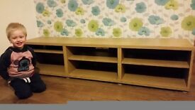 Ikea tv oak bench