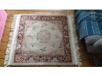 Hand knotted Chinese square rug
