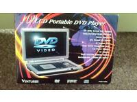"VENTURER 10"" LCD WIDE SCREEN PORTABLE DVD PLAYER WITH REMOTE CONTROL BRAND NEW IN BOX"