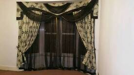 Heavy duty gold and black curtains from Dubai - £399