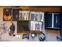 Xbox360 (320gb) with 46 games, chrome controller, Turtle beach headset, Carry case and more!
