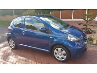 Toyota Aygo Blue 08 Excellent Condition Hands Free Bluetooth £20 Tax Low Insurance Group