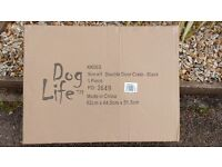 Small Black Double Door Dog Crate - by Dog Life